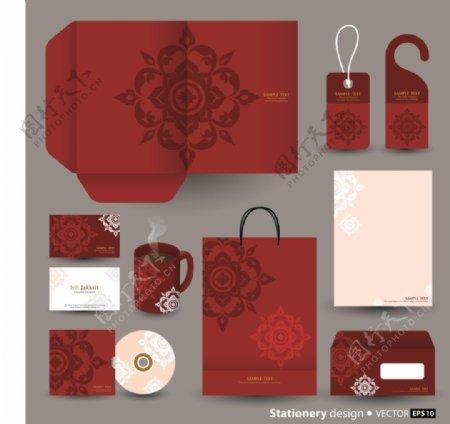 红色大气包装创意文化vi素材