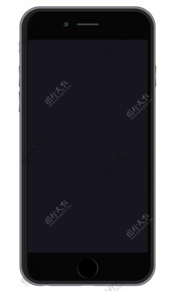iPhone6黑色模型sketch素材