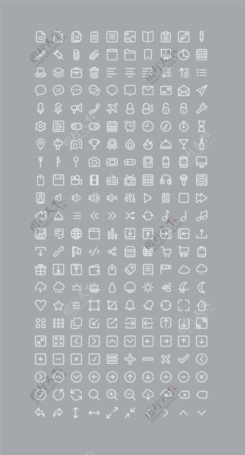 220网页Icons矢量设计