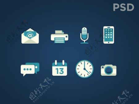 网页社交icons图标设计