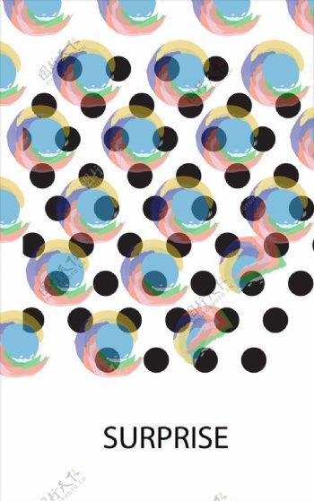 抽象海报矢量图下载