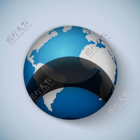 卡通地球矢量图