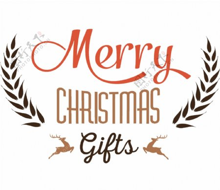简约圣诞节日祝福PNG元素