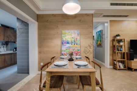 现代时尚客厅蓝色背景墙室内装修效果图