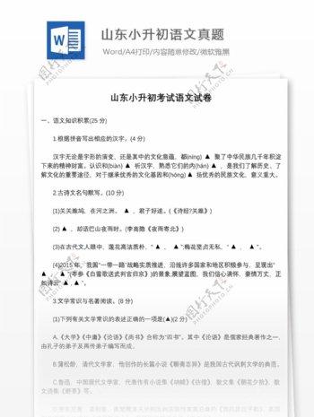 2017年山东济南外国语小升初语文真题