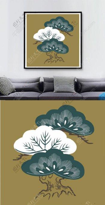 方图中式风格内涵高级色系家装装饰画