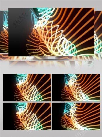 金色扭曲光束视频素材
