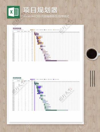 项目活动流程时间任务规划明细记录excel表格