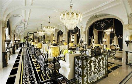 欧式客厅拱形门工装效果图