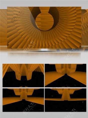 金色罗盘光束视频素材