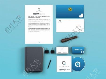 品牌名片书籍装帧画册样机展示素材