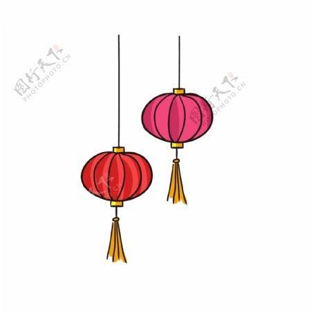 春节灯笼卡通PNG