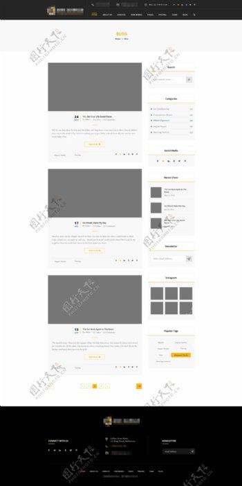 精美的企业电商购物网站之博客列表