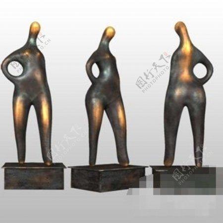 个性另类高端美式风格人物雕塑素材