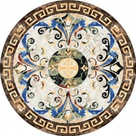 现代中式拼花瓷砖贴图