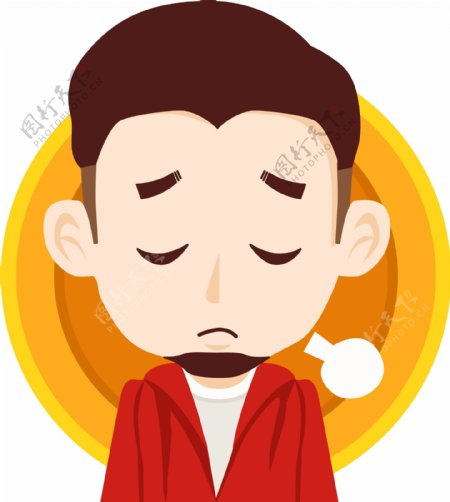 男士情绪表情伤心可商用