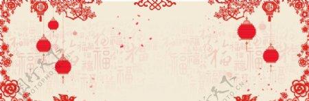 春节灯笼剪纸