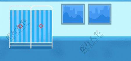 简约蓝色医疗背景设计