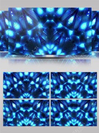蓝色科技荧光流动绚丽舞台led背景