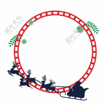 圣诞老人边框喜庆可爱
