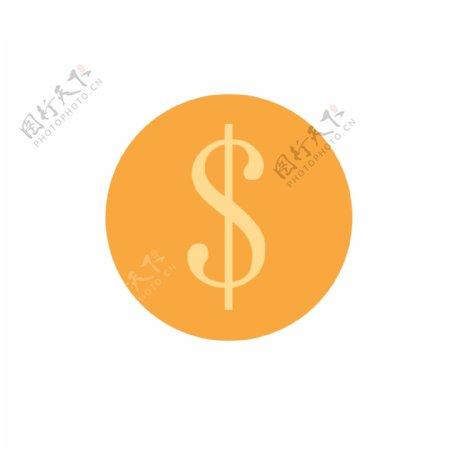 红色圆形人民币图标元素