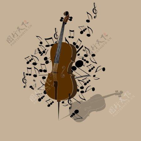 大提琴音乐会海报图案设计