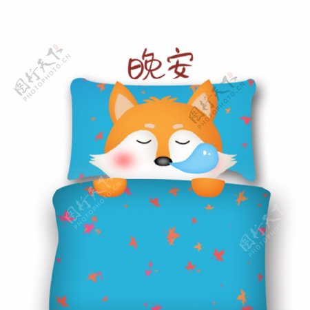 可爱的小狸动物卡通