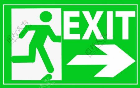 原创设计紧急出口标志绿色