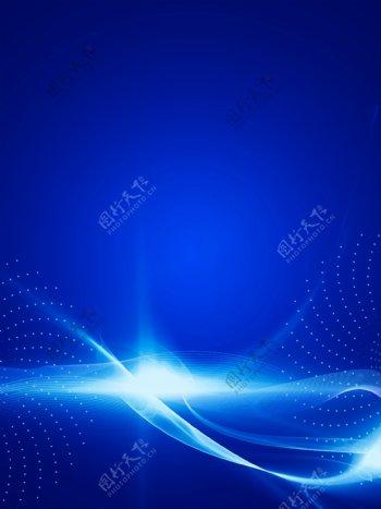 原创简约蓝色光线梦幻背景素材