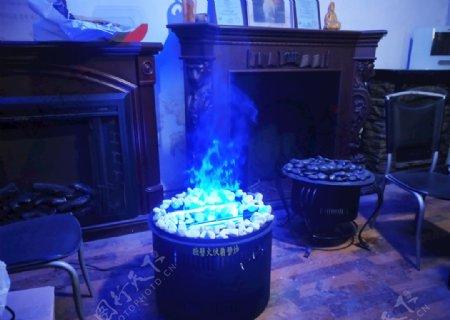 伏羲壁炉蓝色火焰篝火盆