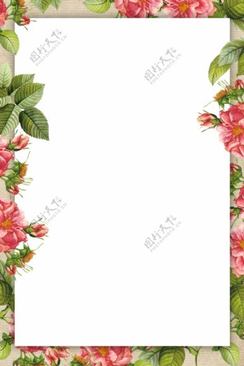 小清新花朵背景模板