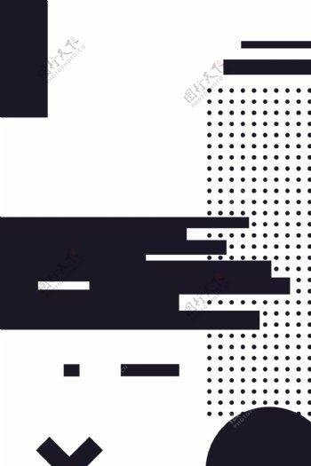 UI素材点不规则几何图形白色矢量背景