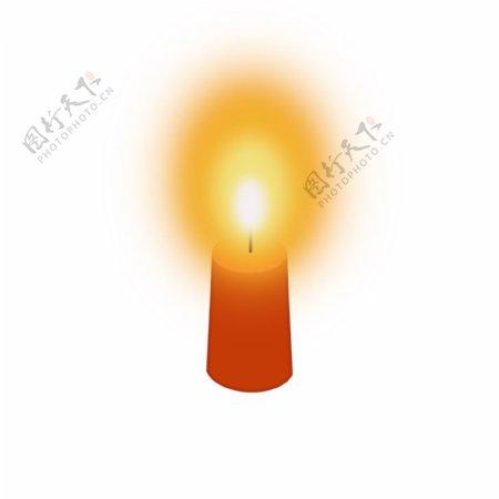祈祷祝福燃烧蜡烛元素