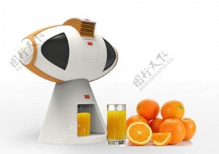 家电类3D设计创意榨汁机stp格式