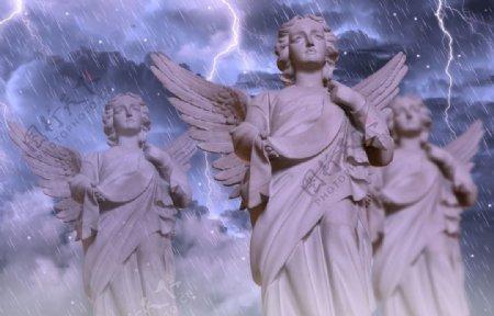 天使图片石像图片3d设计