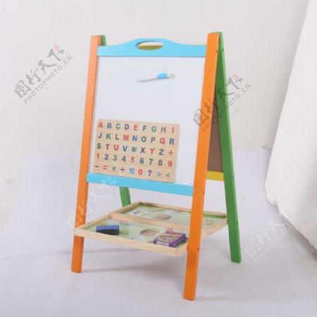 支架式儿童画画板磁性小黑板8