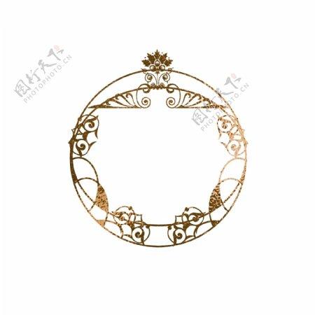 金箔烫金欧式圆形纹理边框