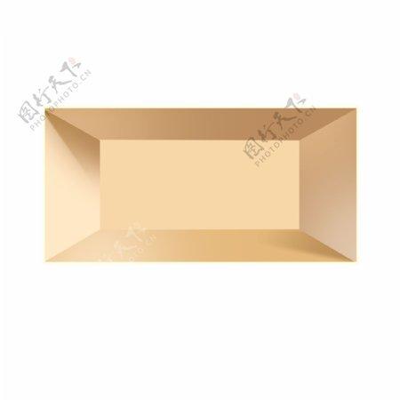 金色创意闪耀盒子元素