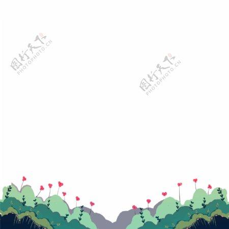 卡通植物花卉草丛免扣图