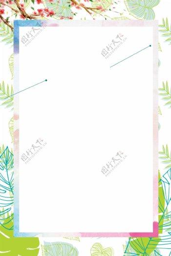 绿色草木环纹背景图