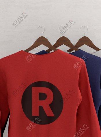 原创模型衣服卫衣样机logo