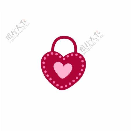 爱情锁情人节爱心锁红色GIF