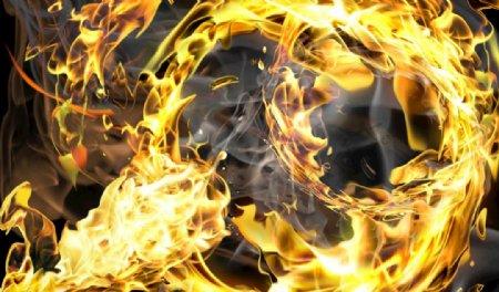 火焰素材图片热烈火焰背景图