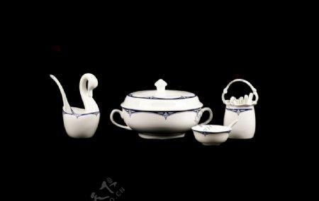 组合瓷器餐具