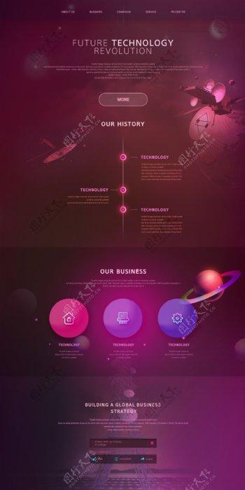 未来科技网页模板