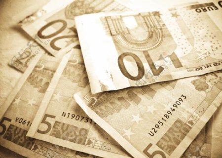 欧元纸币的几种面额