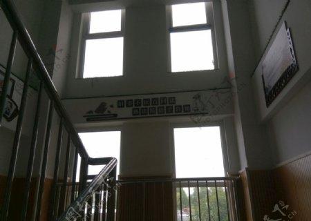 校园文化墙楼梯