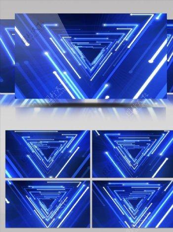 蓝色光束流动大屏幕视频素材