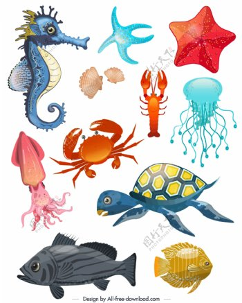 11款创意海洋动物设计