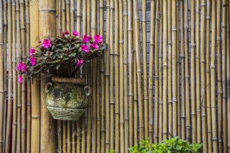 竹子背景墙